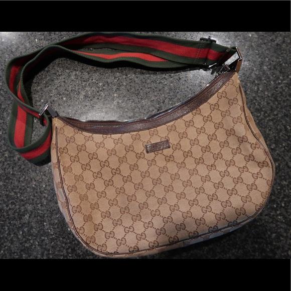 bfe677bcd33 Gucci Handbags - Gucci Messenger Bag with Signature Web Strap Brown